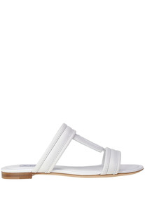 Leather T slides. Tod's