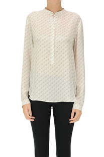 Designer logo silk shirt Stella McCartney