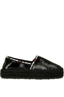 Sequined espadrillas Love Moschino