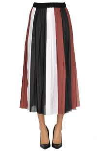 Pleated striped skirt Alysi