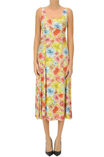 Flower print satin dress Alexa Chung