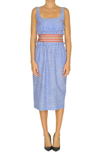 Striped cotton sheath dress Stella Jean