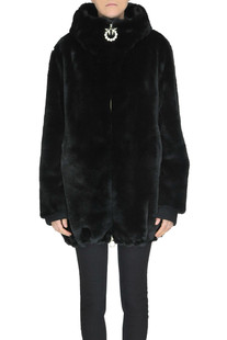 Chirone eco-fur coat Pinko