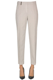 Cotton-blend slim trousers Peserico
