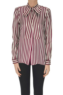 Striped silk shirt Michael Michael Kors