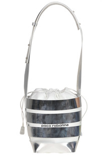 Leather bucket bag Paco Rabanne