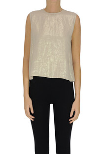 Metallic effect lined top Minina