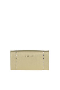 Metallic effect leather wallet with studs Orciani