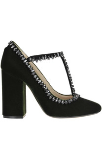 Embellished velvet pumps N.21