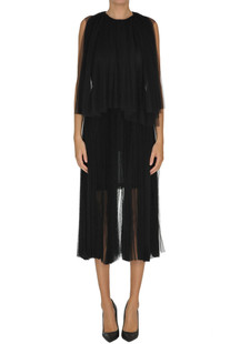 Pleated tulle jumpsuit Maria Lucia Hohan