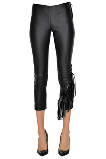 Friged leather trousers Sira