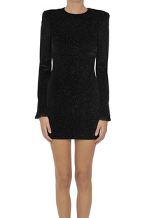 Glitted velvet mini dress PHILOSOPHY di Lorenzo Serafini