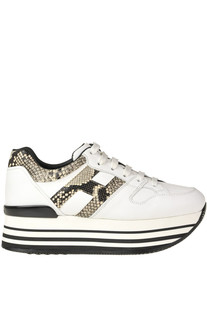 Maxi 222 H283 leather wedge sneakers Hogan