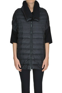 Wool knit inserts down jacket Moncler
