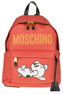 Printed eco-leather backpack Moschino Couture