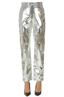 Metallic effect eco-leather trousers MSGM