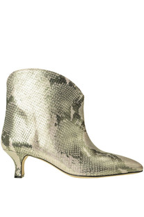 reptile print leather ankle boots Paris Texas