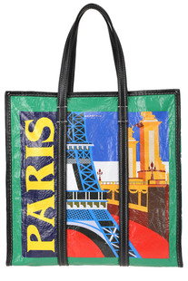 Bazar Paris printed leather shopper Balenciaga