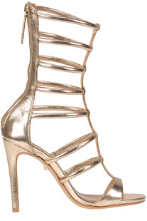 Metallic effect leather gladiator sandals Schutz