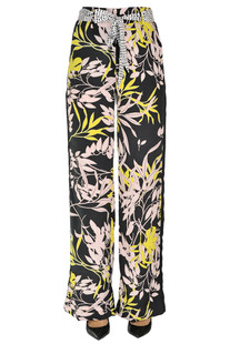 Printed satin trousers Nenette