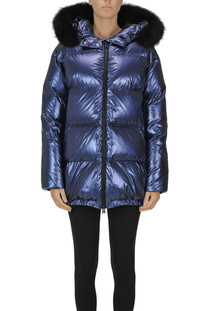 Metallic effect down jacket ADD