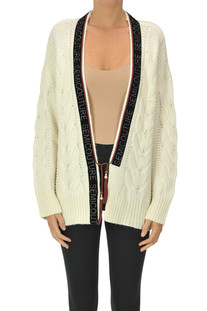 Woven knit cardigan Semicouture
