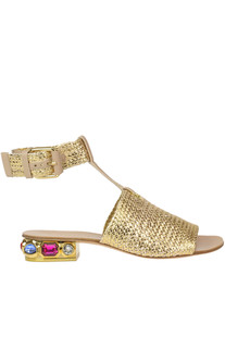 Woven leather sandals Casadei