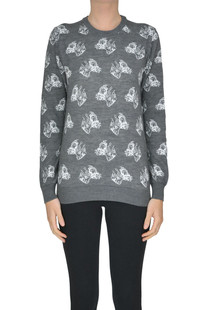 Printed wool-blend pullover MSGM