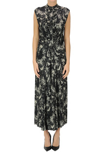 Flower print satin dress 8PM