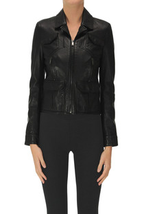 Leather biker jacket Saint Laurent