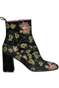 Embroidered suede ankle boots Maliparmi