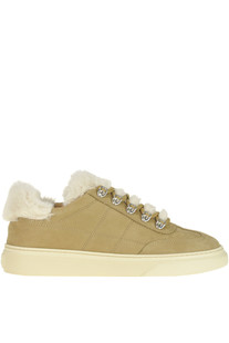 Suede sneakers with eco-fur inserts Hogan