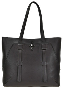 Grainy leather shopping bag Fay
