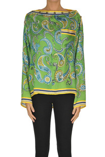 Printed satin blouse PHILOSOPHY di Lorenzo Serafini