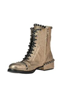 Metallic effect leather lace-up boots Metisse
