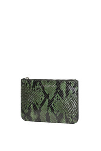 Python leather pouch Orciani