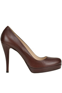 Leather platform pumps Max Mara