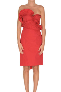 Draped taffeta sheath dress Alexa Chung