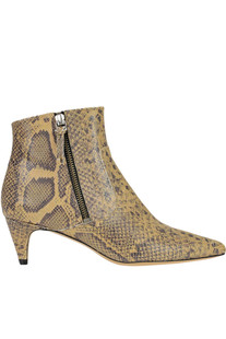Reptile print leather ankle boots Isabel Marant