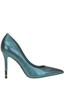 Metallic effect leather pumps Guess