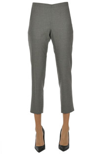 Pinstriped wool trousers 6397
