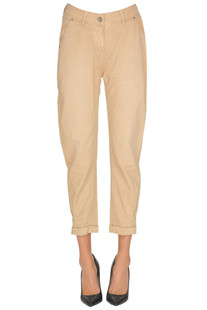 Cropped cotton trousers Twinset  Simona Barbieri