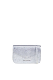 Metallic effect leather shoulder bag Lancaster