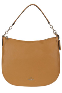 Grainy leather hobo bag Coach