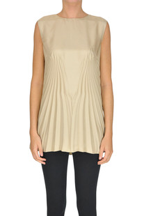 Pleated satin top Maison Margiela