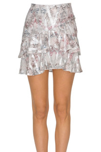 Flounced crepè mini skirt Iro