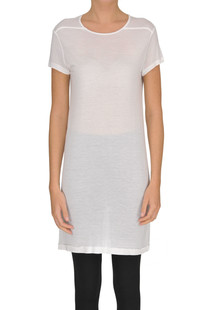 Viscose and silk maxi t-shirt Rick Owens