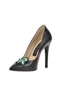 Embellished leather pumps John Richmond