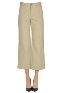 Cropped cotton trousers Acne Studios