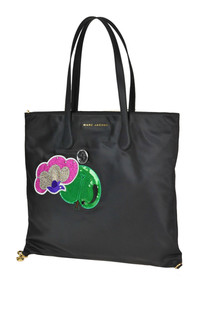 Embellished techno fabric shopping bag Marc Jacobs